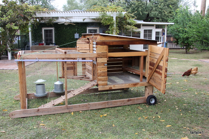 A beginner guide for building a chicken coop the for Mobile chicken coop plans
