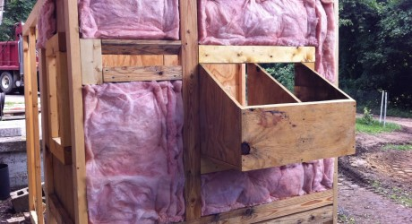 insulating chicken coop