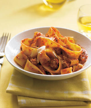Papperdalle with turkey ragu
