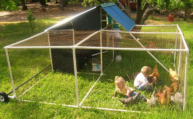 10 free chicken tractor plans and designs the poultry guide for How to build a movable chicken coop
