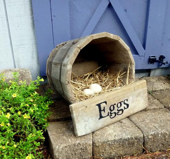 Wooden Barrel Nesting Box by lisa
