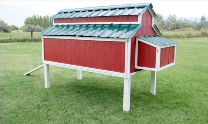 Old red barn chicken coop instructions coop plans examples for Red chicken coop